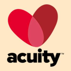 Two overlapping hearts, acuity logo