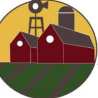 Two barns and a silo - Cascade Farmers Mutual Insurance logo