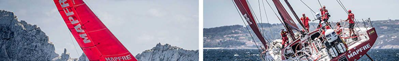 Volvo ocean race, mapfre insurance banner