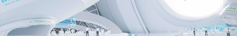 A futuristic Compare.com headquarters