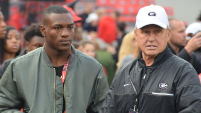 5-star junior RB Zamir White (left) is one of Georgia's top recruiting targets in the Class of 2018. Mike Cavan (right) is the special assistant to the head coach at UGA. (Jeff Sentell / AJC)