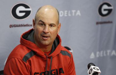 UGA defensive coordinator Jeremy Pruitt speaks with the media after Wednesday's practice. (Joshua L. Jones/Special)