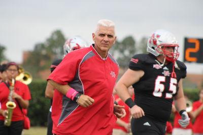 Nicholls State head coach Tim Rebowe. (Photo courtesy of Nicholls State Athletics.)