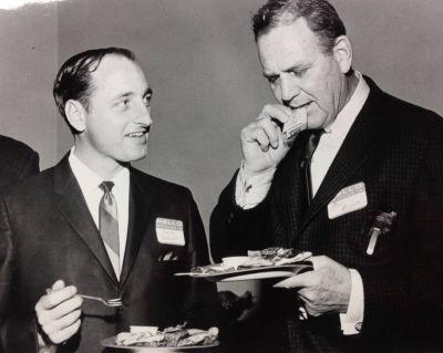 "Vince Dooley and Alabama's Paul ""Bear"" Bryant. (University of Georgia)"