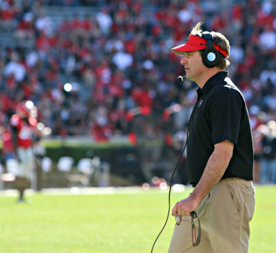 Kirby Smart likes opening the season with a strong nonconference opponent. (Emily Selby / UGA)