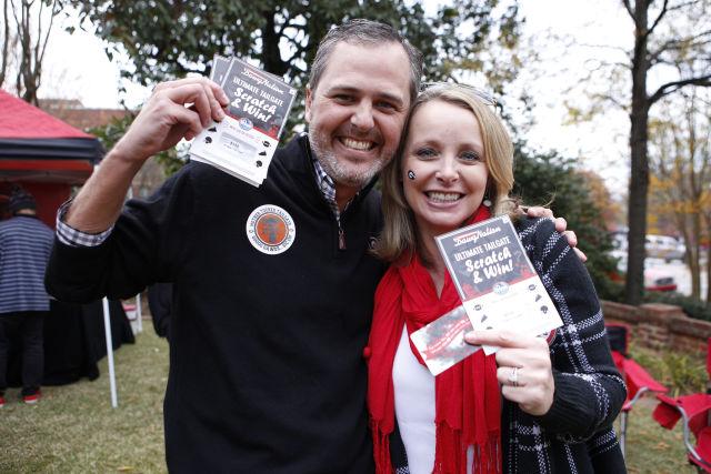 Joey Tucker, right, from Athens, GA., and Libby Tucker, from Ackworth, Ga.,