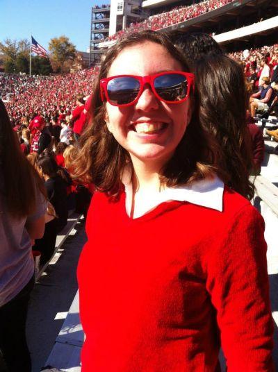 Olivia King at a UGA football game. (Special)
