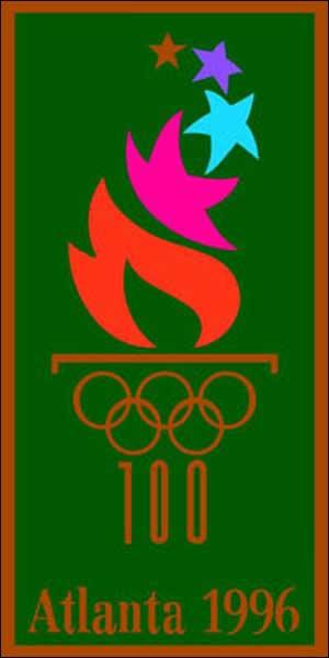Atlanta Olympics banner.
