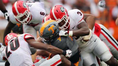 UGA Roquan Smith and defensive back J.R. Reed