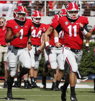 Jake Fromm-Justin Fields-Georgia-Georgia football-Georgia Bulldogs-UGA football-Middle Tennessee-MTSU
