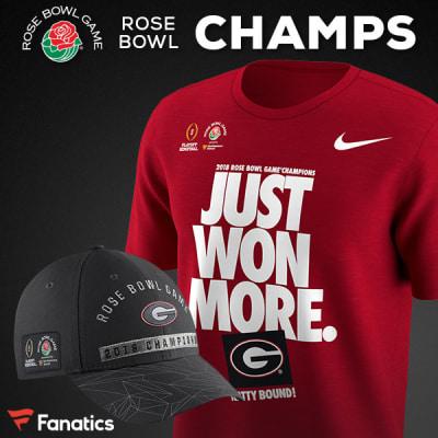 face5b7f Buy official UGA-Alabama CFP gear and Bulldogs Rose Bowl championship gear