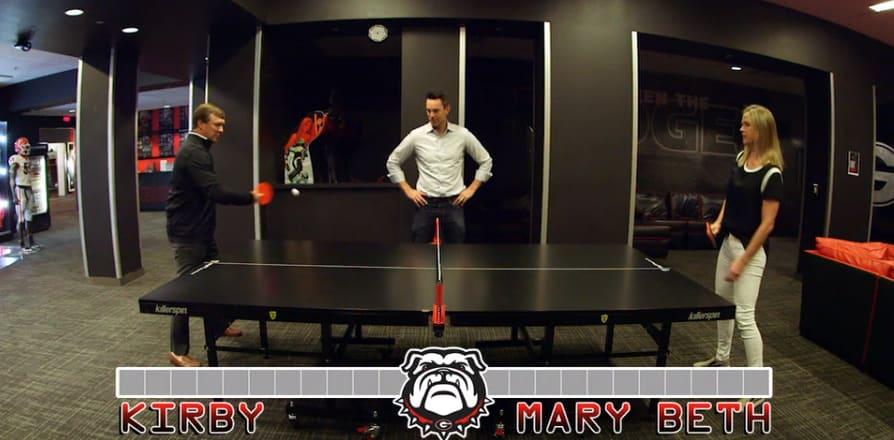 Georgia football-Kirby Smart-Mary Beth-Kirby Smart wife-ping pong