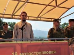 Иерей Василий Грибенченко посетил праздничное построение военной полиции
