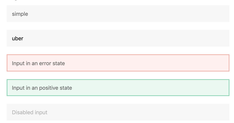 Inputs - Base Web version 7
