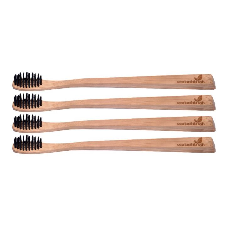 MiEco Bamboo Charcoal Enhanced Toothbrush – Adult (4-pack)
