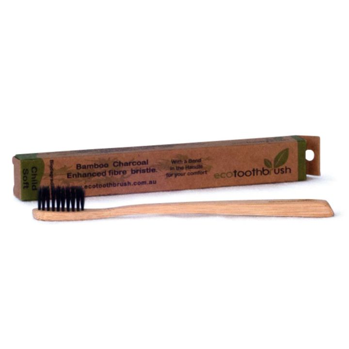 MiEco Bamboo Charcoal Enhanced Toothbrush – Child