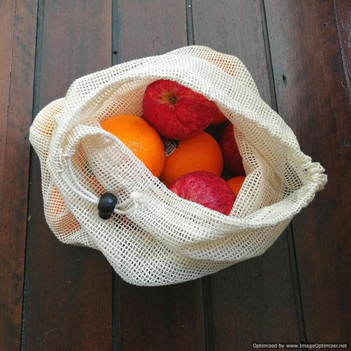 Cotton Mesh Produce Bag Bundle of 4