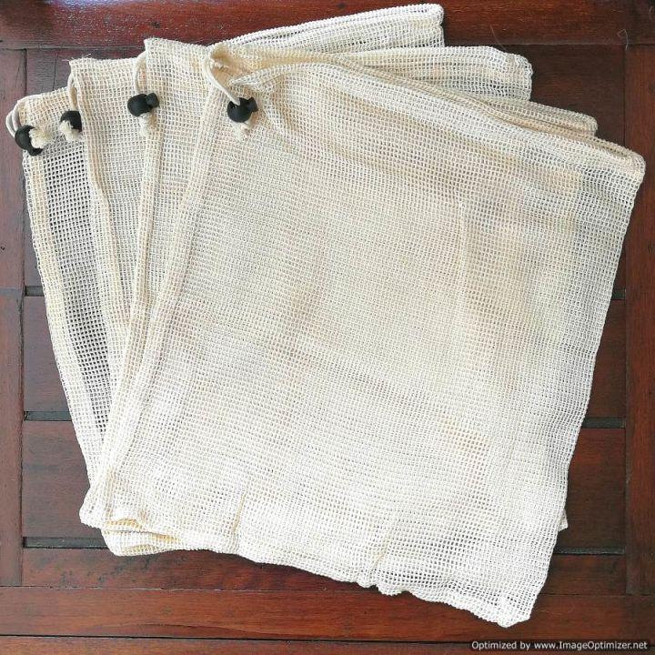 Cotton Mesh Produce Bag – Large (Set of 4)