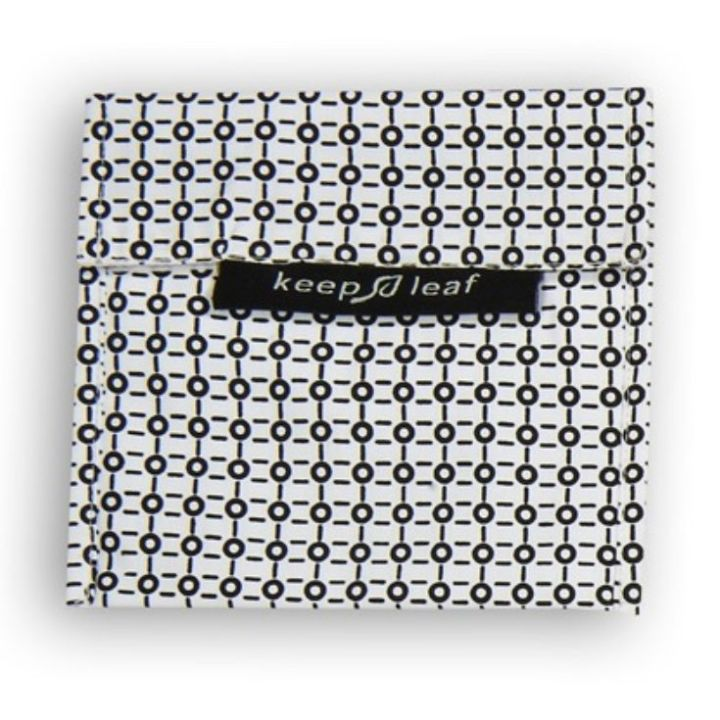 Reusable Snack Bag – Black and White (Size L)