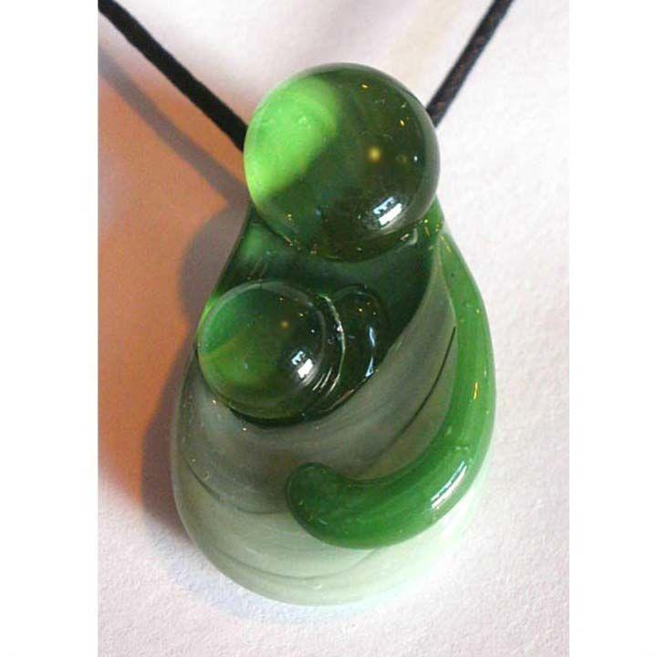 Babywearing Pendant – Sage on Emerald