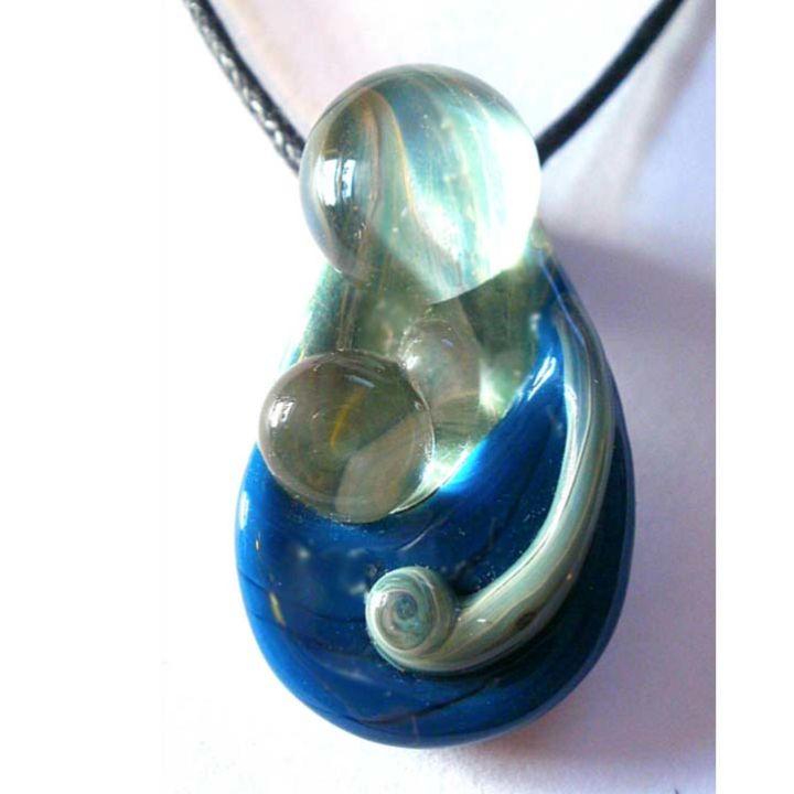 Babywearing Pendant – Turquoise on Aqua Swirl
