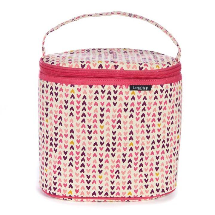 Cooler Bag – Hearts Design (with free snack bag)