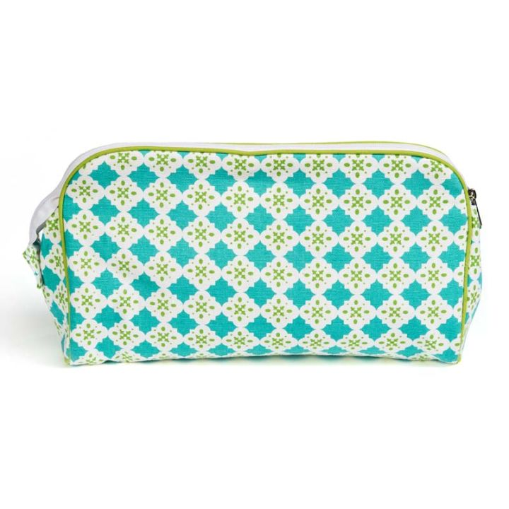 Keep Leaf – Toiletry Bag / Diaper Clutch (Tiles)