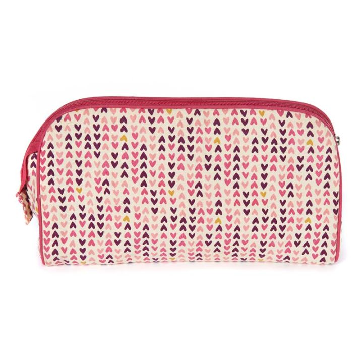 Keep Leaf – Toiletry Bag / Diaper Clutch (Hearts)