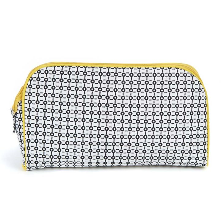 Keep Leaf – Toiletry Bag / Diaper Clutch (Black & White)