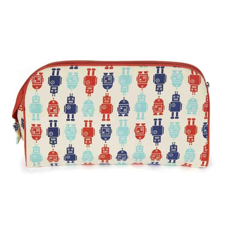 Keep Leaf – Toiletry Bag / Diaper Clutch (Robots)