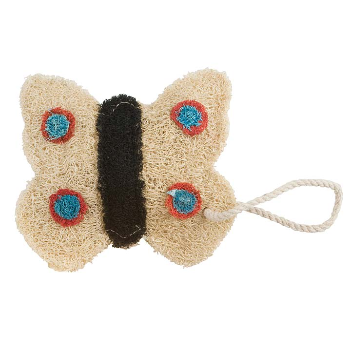 Cream Butterfly Loofah