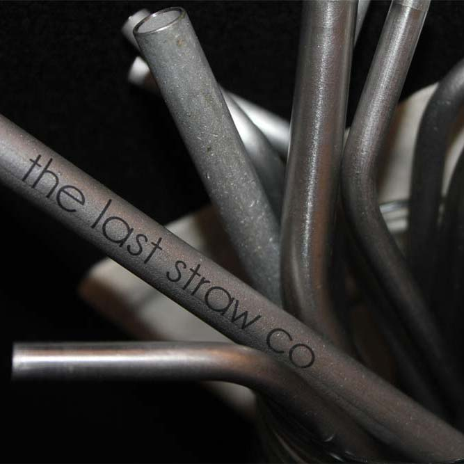 The Last Straw Co. Stainless Steel Bent Smoothie Straw (316 grade)