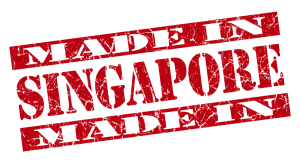made in Singapore grunge red stamp