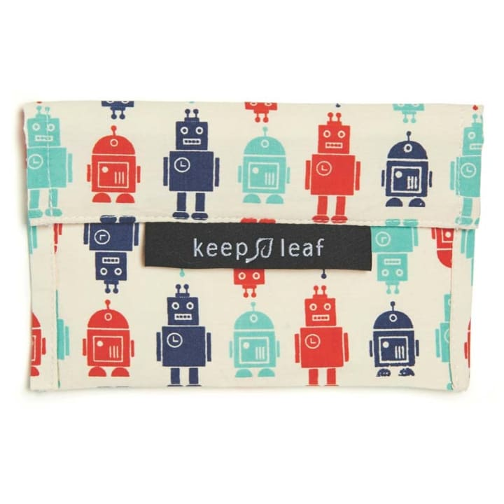 Reusable Snack Bag – Robot (Size M)
