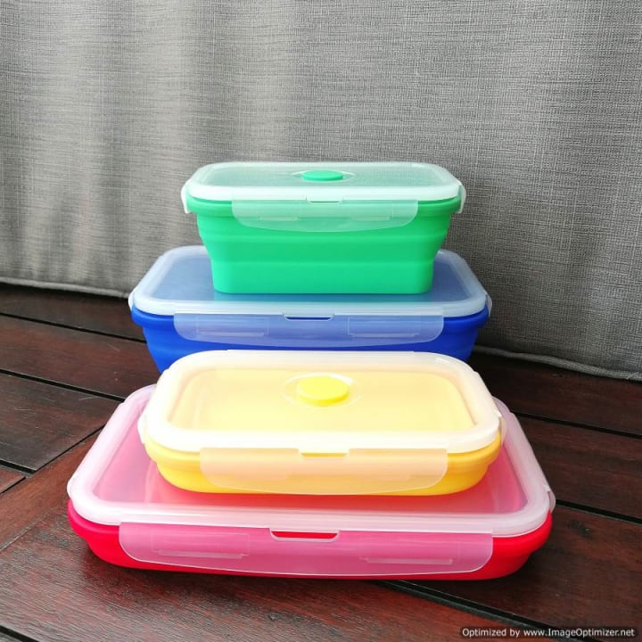 Collapsible Silicone Food Container – Small