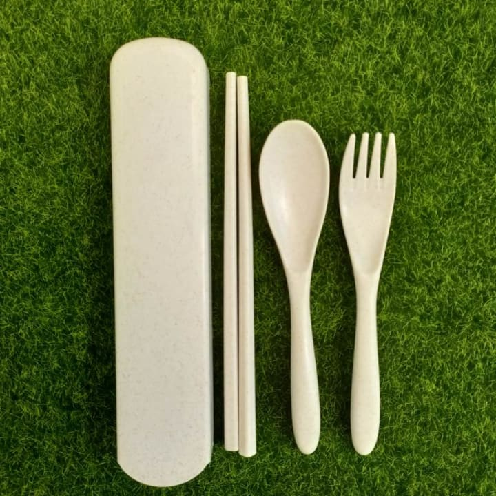 Wheat Straw Travel Cutlery Set