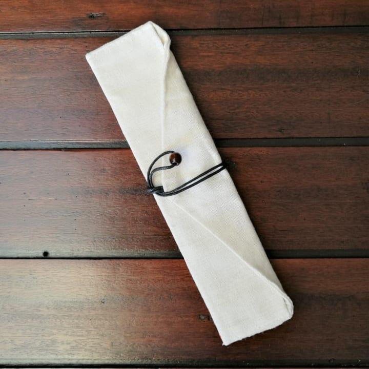 Linen Wrap Pouch