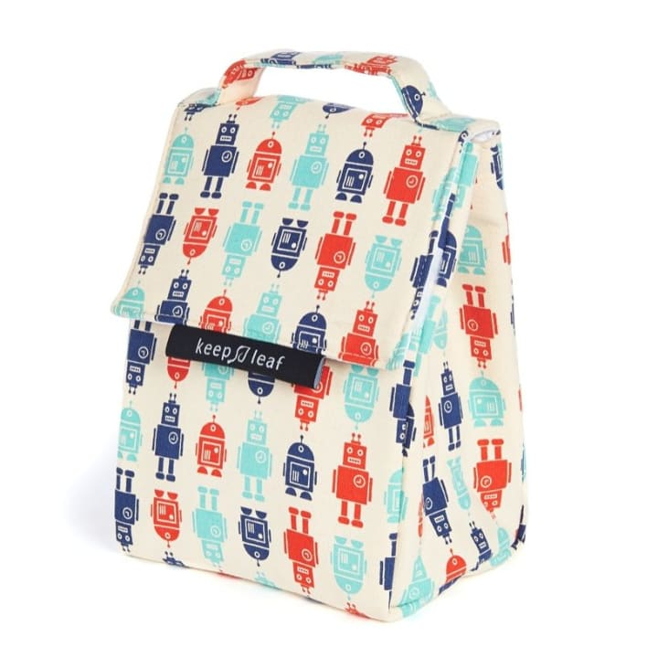 Organic Cotton Lunch Bag – Robot