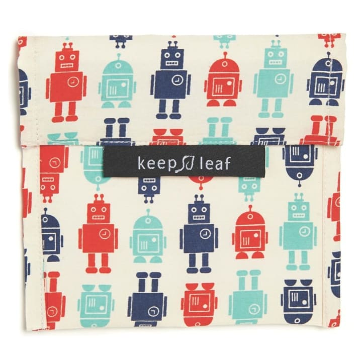 Reusable Snack Bag – Robot (Size L)