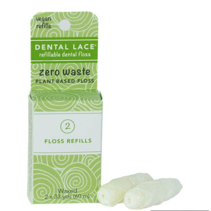 Refillable Vegan Dental Floss – Refill Bag (2 Spools)