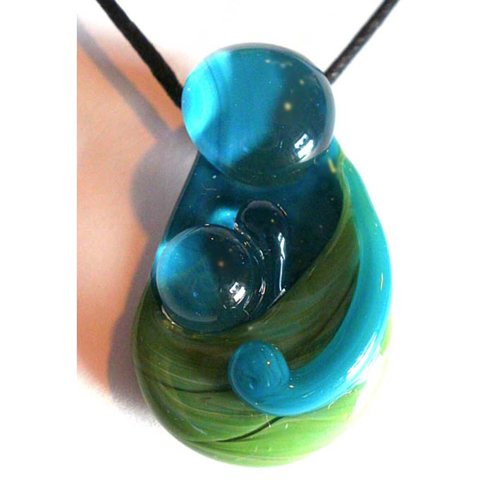 Babywearing Pendant – Jade on Teal