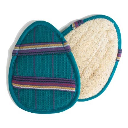 Oval Slip-On Loofah Scrubbers – Blue
