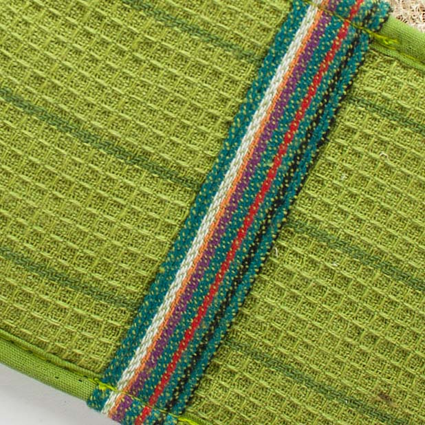 Oval Slip-On Loofah Scrubbers – Green