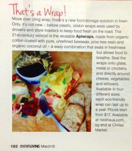 Apiwraps Featured in Expat Living Magazine!