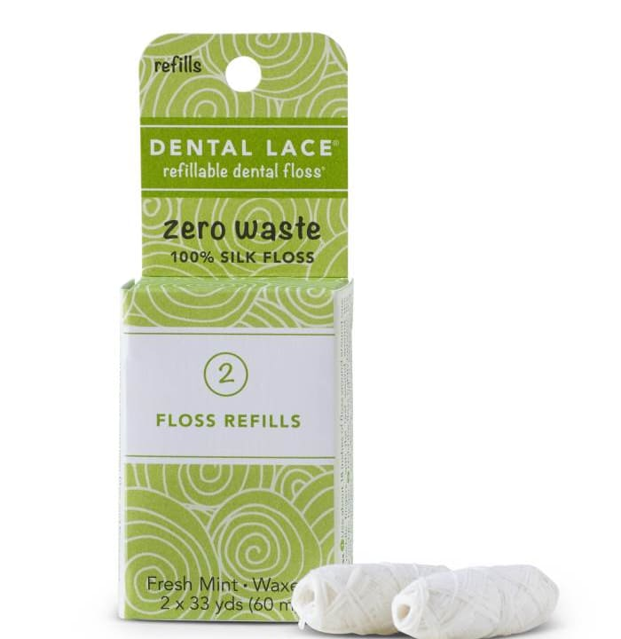 Refillable Dental Floss – Refill Bag (2 Spools)