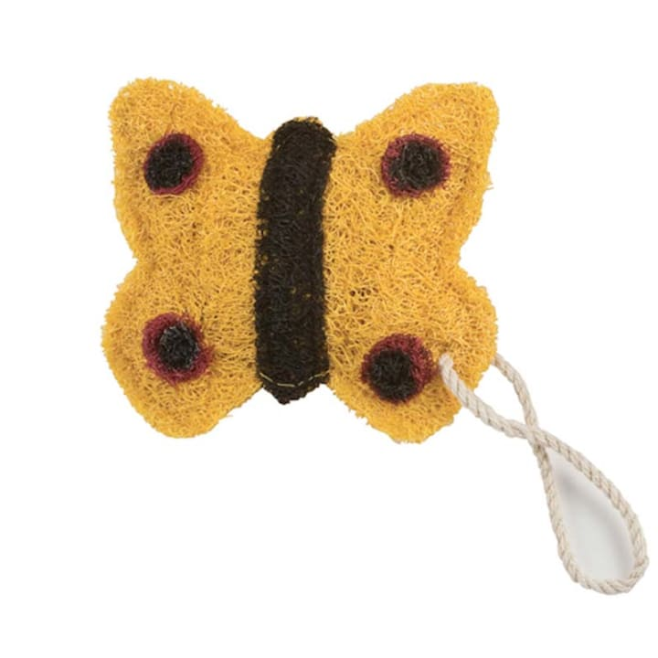 Yellow Butterfly Loofah