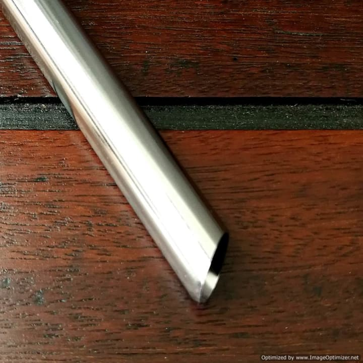Stainless Steel Straw – Bubble Tea Slanted Tip (304 grade)