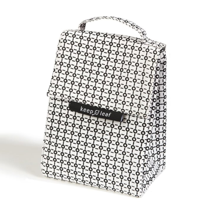 Organic Cotton Lunch Bag – Black and White