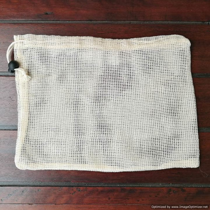Cotton Mesh Produce Bag – Small