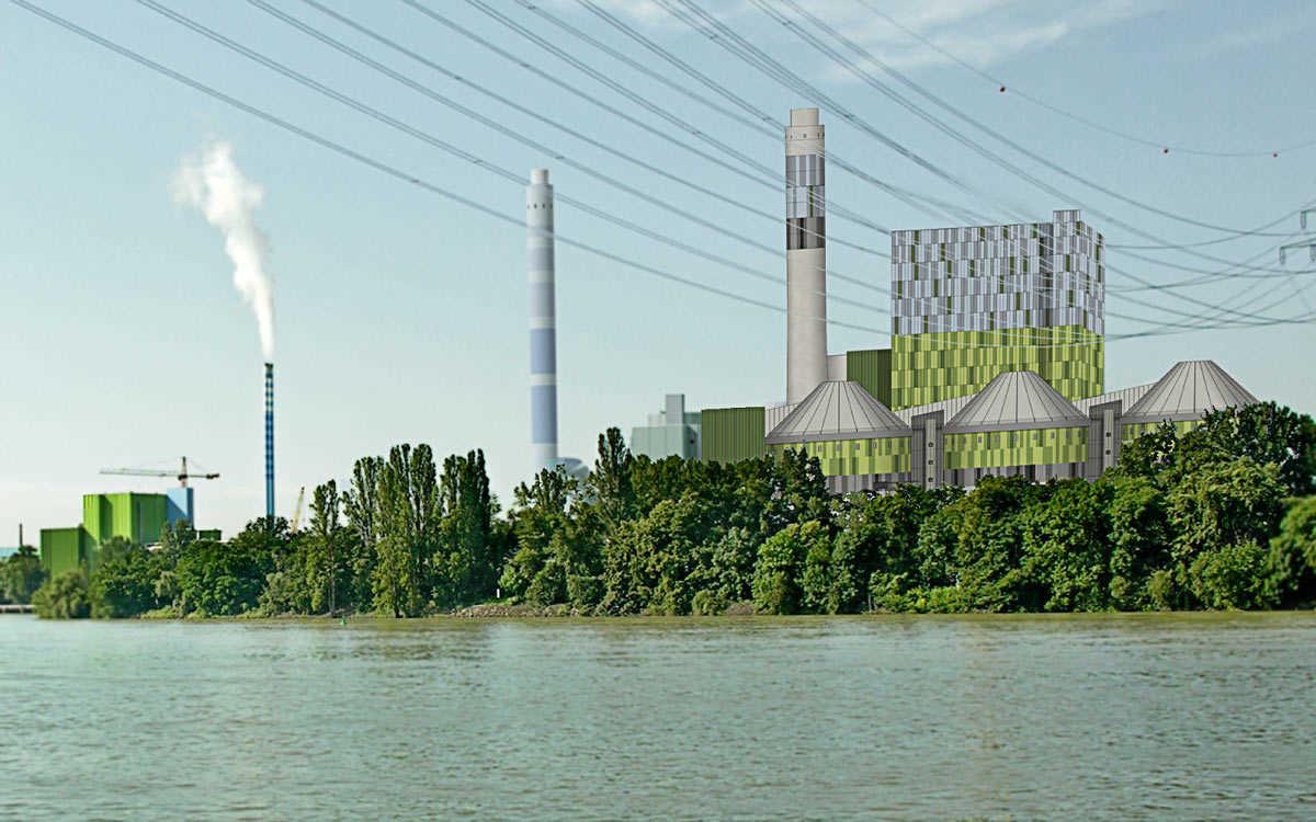Wettbewerb Fassadengestaltung KHKZ Kohleheizkraftwerk Mainz-Wiesbaden, Mainz